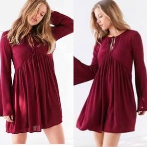 Urban Outfitters Crochet Bell-Sleeve Dress M